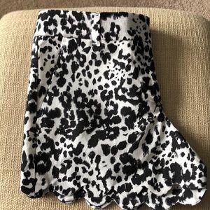 J Crew animal print shorts.